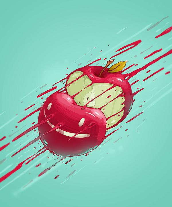 ilustraciones vitamin bomb manzana