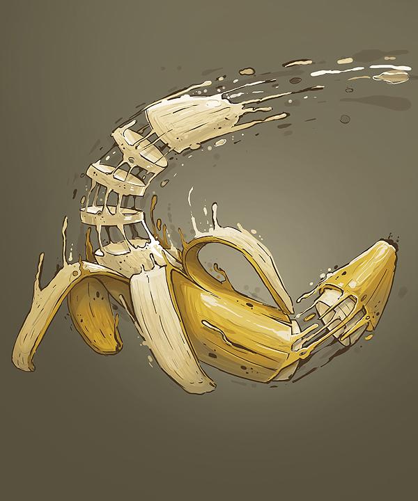 Creativas ilustraciones de frutas y vegetales