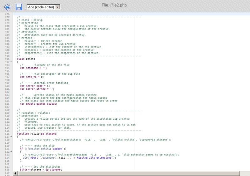 Edición de código PHP