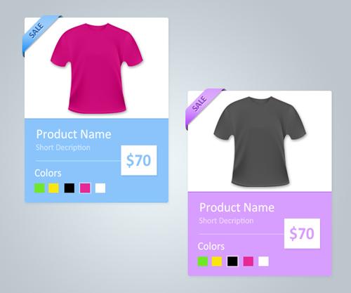 Productos en tiendas online