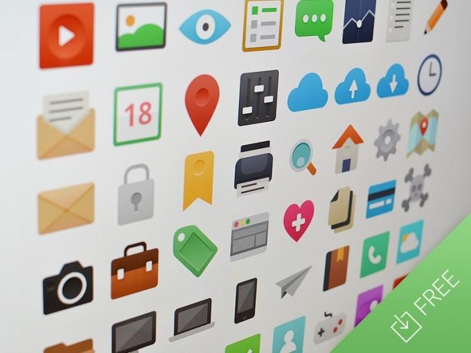 Iconos en vectores para aplicaciones web