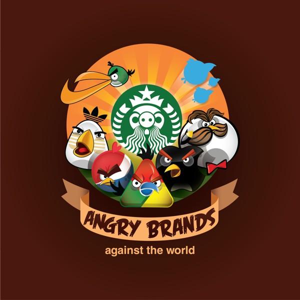 Parodias de logos con los Angry Birds