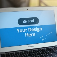mockup psd macbook air