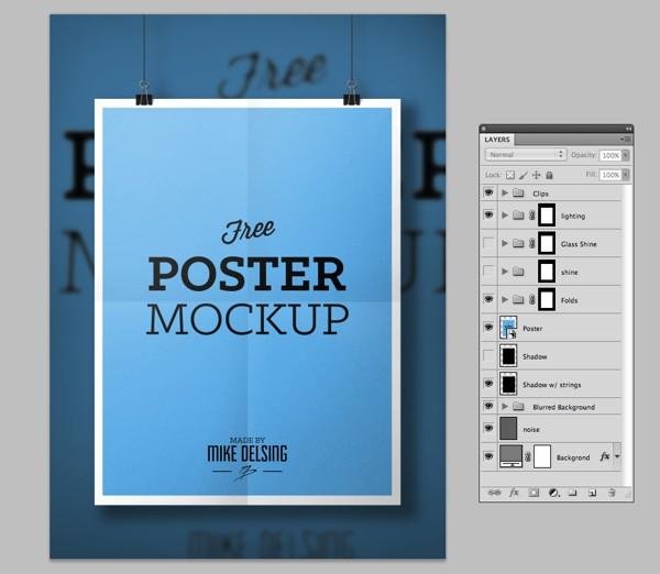 Mockup PSD poster vertical