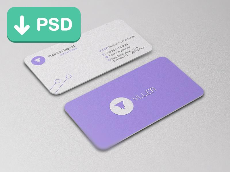 Mockup tarjetas de presentación con bordes redondeados