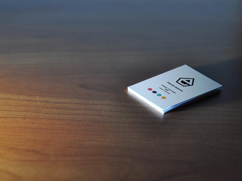Mockup tarjetas de presentación