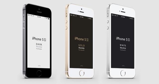 Mockups PSD de iPhone 5S y iPhone 5C
