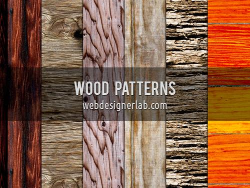 6 patrones de madera