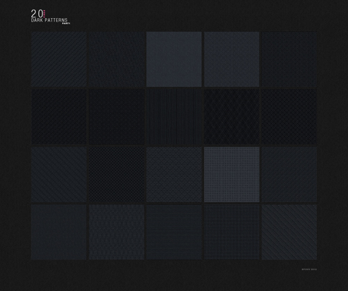 20 patrones para fondos oscuros