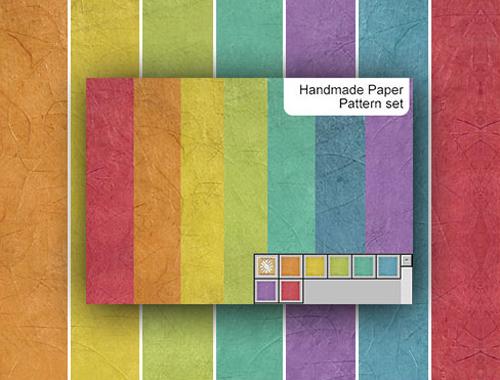 7 patrones de papel arrugado de colores