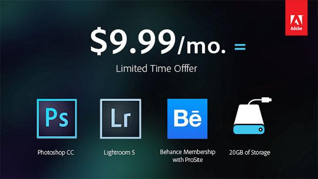 Promoción de Adobe CC para fotógrafos