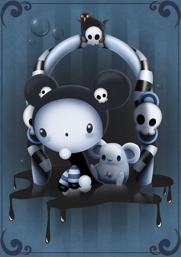 crear ilustraciones con Photoshop, Caricatura de Halloween