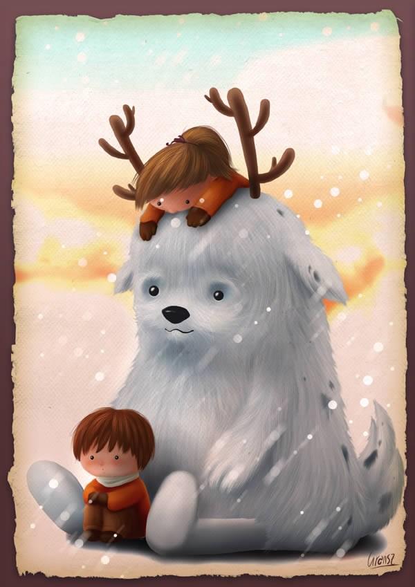 Ilustración de niños