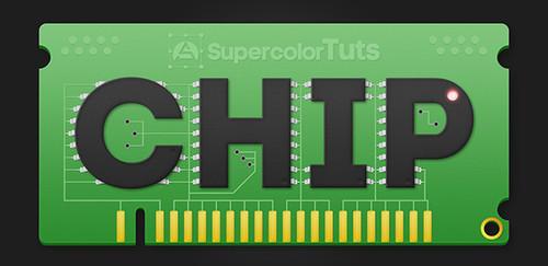 Tutorial para crear un chip de computadora con texto
