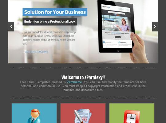 Plantillas web HTML5 responsivas gratis zParalexy