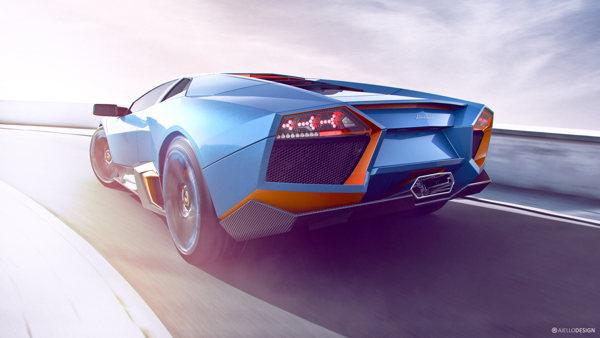 Imágenes CGI de autos, Lamborghini Aventador CGI