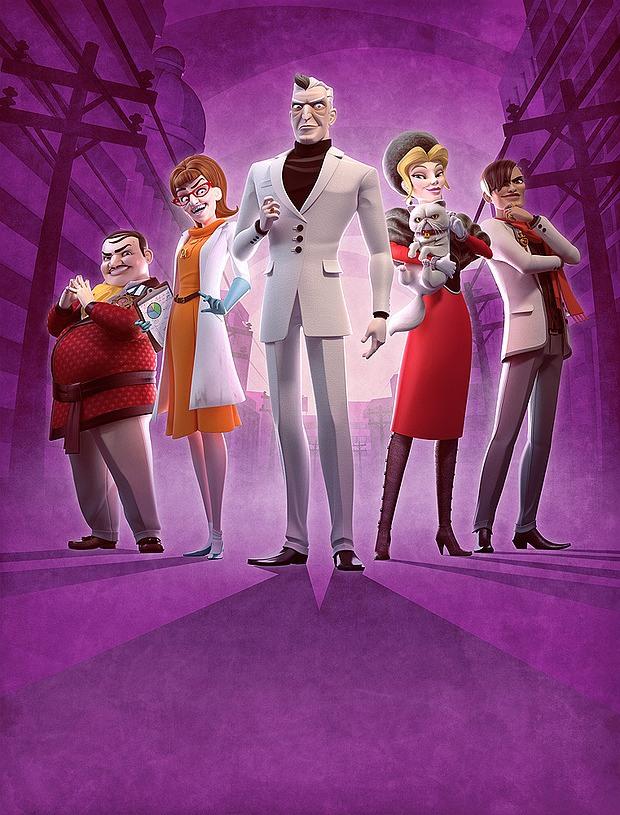 Diseños de personajes villanos