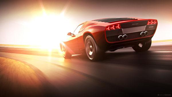 Lamborghini Miura CGI