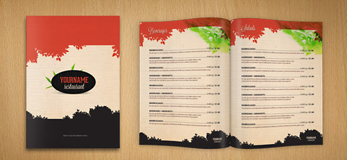 Menu de restaurant PSD