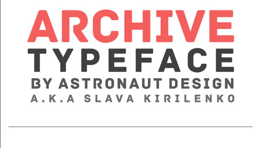 fuentes tipográficas gratuitas, Archive