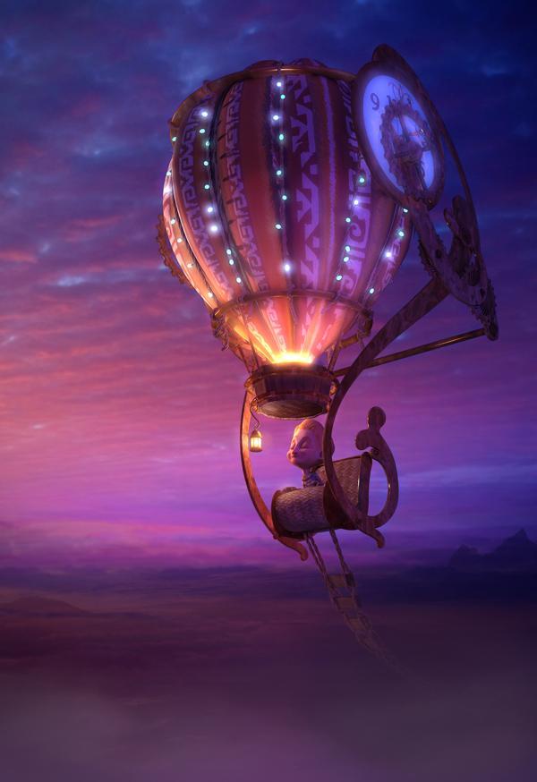 Soñando en un globo aerostatico