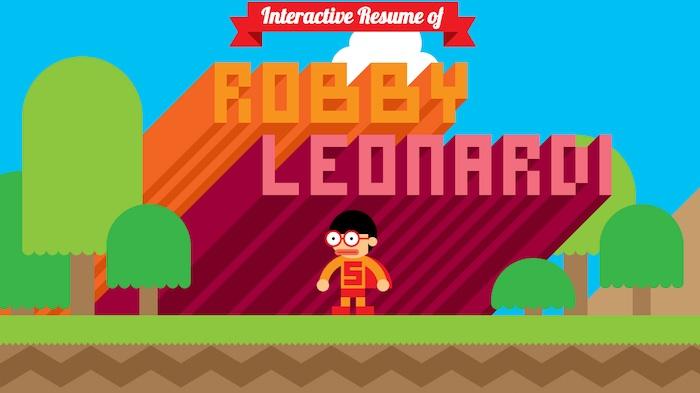 CV interactivo del diseñador web Robby Leonardi