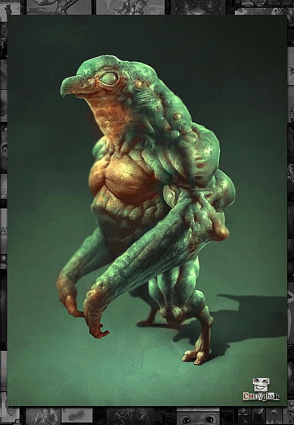 Diseños de monstruos 3D