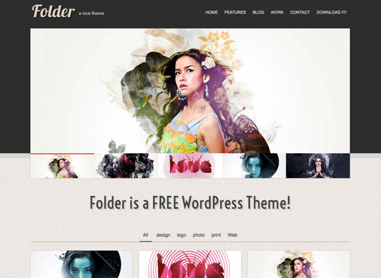 Folder, plantilla responsiva para portafolios web