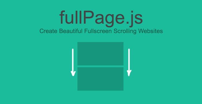 crear diseños web de pantalla completa con scroll