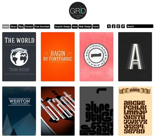 Grid, plantilla responsiva para portafolios web