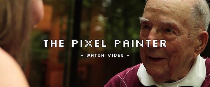 Hombre de 98 años que crea arte usando MS Paint