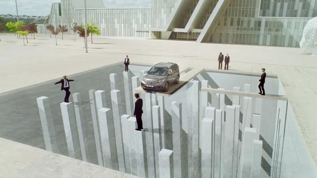 Publicidad de Honda utilizando ilusiones ópticas