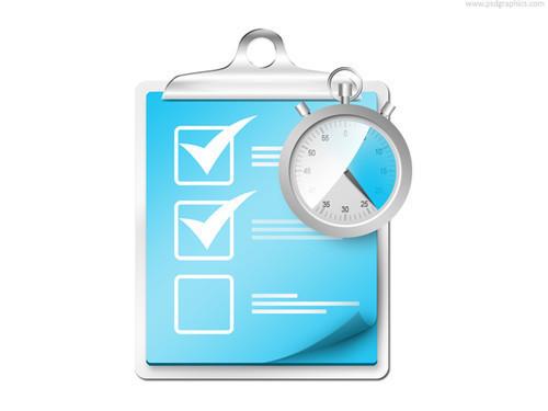 Archivos PSD para descargar, Icono PSD: Lista de tareas