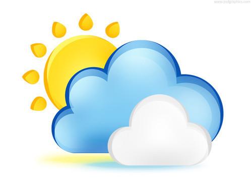 Icono PSD: Clima nublado
