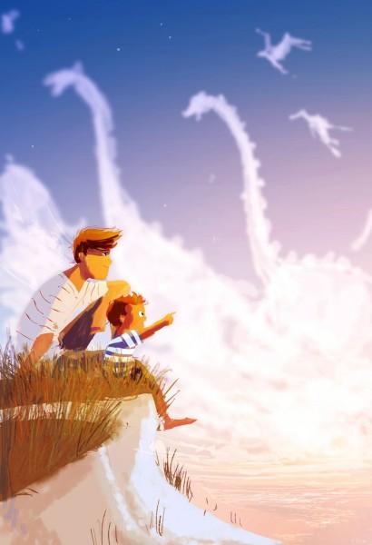 ilustracion nubes e imaginación