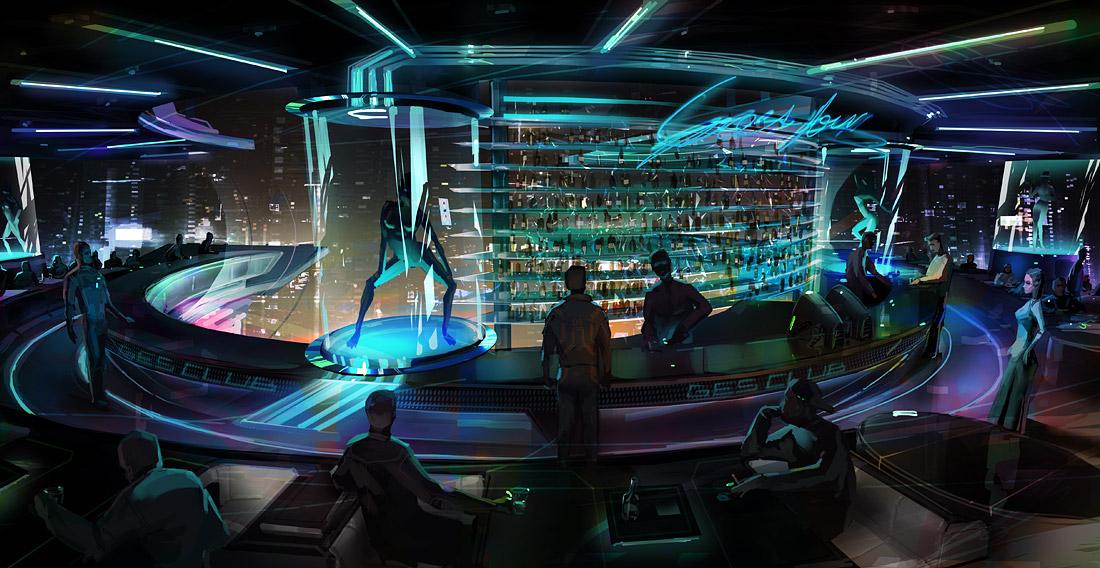 Ilustración de un casino de lujo