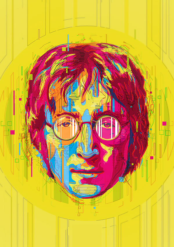 ilustración de John Lennon