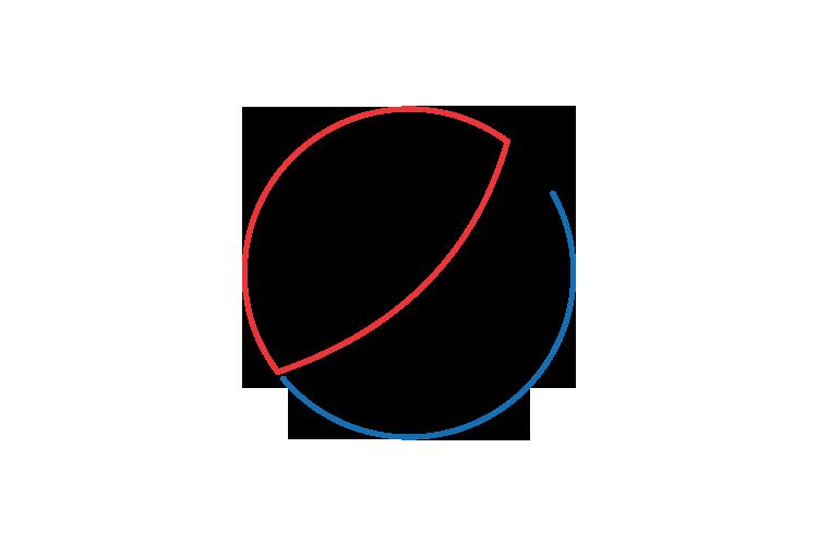 Logo minimalista de Pepsi la marca de refresco de Cola más importante de Estados Unidos y la unica capaz de plantarle cara a Coca Cola.