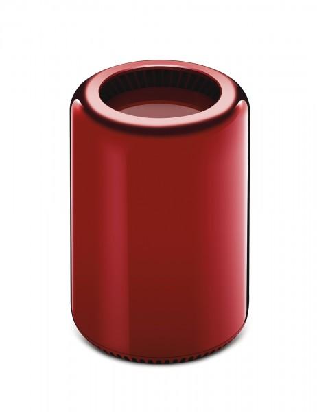 Mac Pro roja diseñada por Jonathan Ive