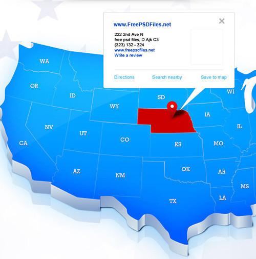 Mapa PSD de los Estados Unidos