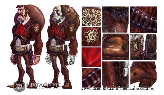 Diseños de personajes creativos mariachi zombie
