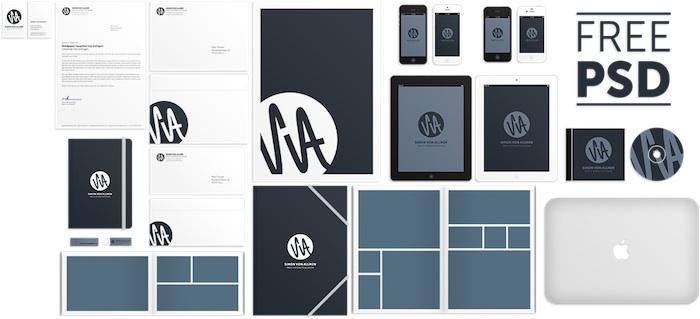 Mockup PSD para diseños de identidad corporativa