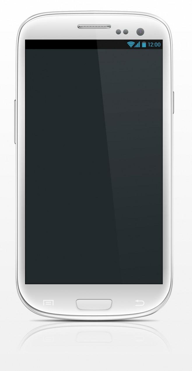 Mockup PSD Samsung Galaxy S3 Blanco