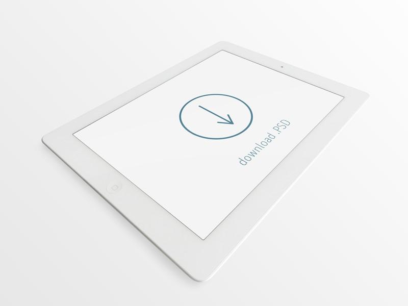 Mockup PSD iPad Blanco