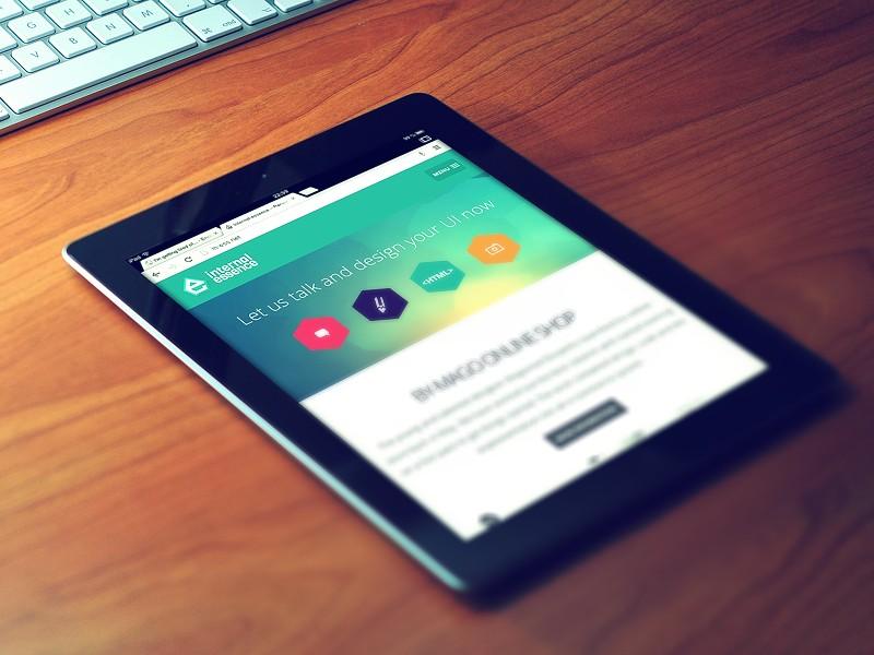 Mockup PSD iPad Negro