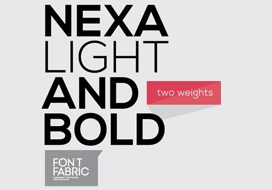 Nexa: Light y Bold