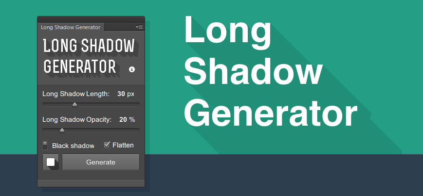 Plugin Photoshop para crear sombras largas