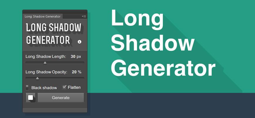 Plugin Photoshop para crear sombras largas