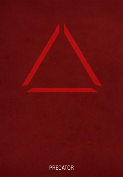 Posters de películas estilo minimalista, Depredador