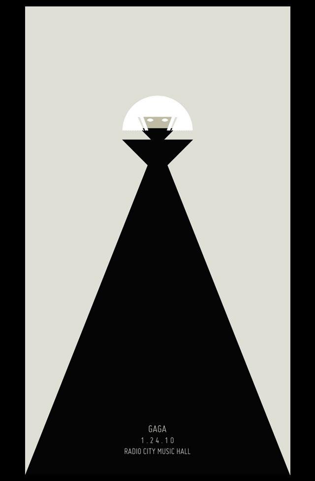Poster minimalista para un concierto de Lady Gaga